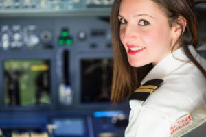 Airlines are desparate for females with flight training.